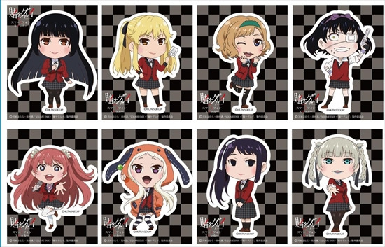 賭ケグルイ トレーディングスマホステッカー 8個 アニメ・キャラクターグッズ新作情報・予約開始速報