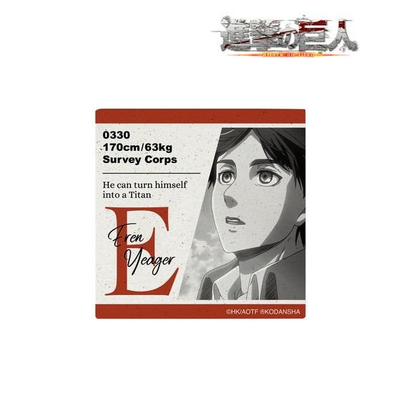 進撃の巨人 エレン 吸水コースター アニメ・キャラクターグッズ新作情報・予約開始速報
